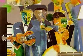 "Courtesy of Freewebs Romare Bearden ""One Night Stand"""