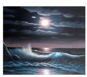Abstract-Night-Moonlight-Seascape-Art