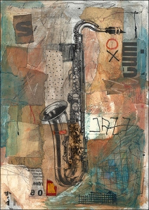 jazz-mixed-media-art-collage-art