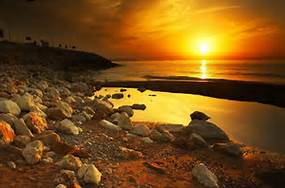 Meditation ~ Sea Sunset Rocks