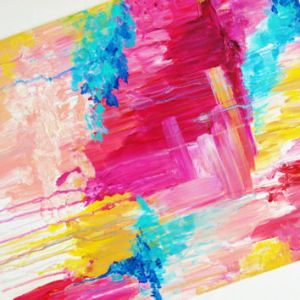 Beautiful Pastel Pop of Color Painting