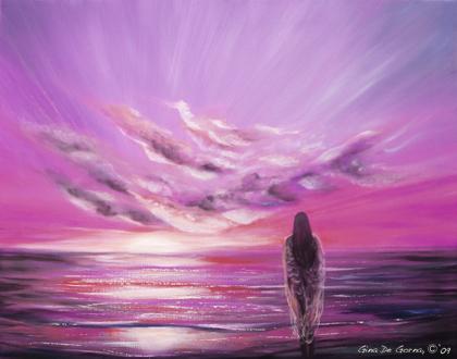 Courtesy of Fine Art Prints·... purple modern sunset paintings purple contemporary sunset paintings