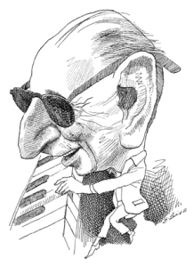 Charicature of Igor Stravinsky