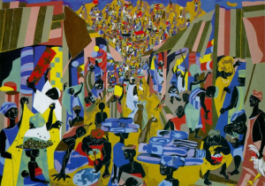 Art Scene by Jacob Lawrence