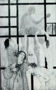 La Maison en papier_drawing and gouache by Mina Loy 1906 Courtesy of Michael Duncan Collection