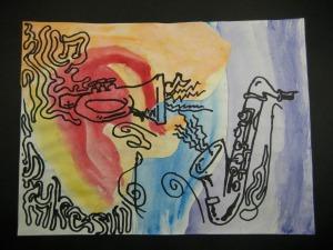 Romare Bearden Jazz Collage