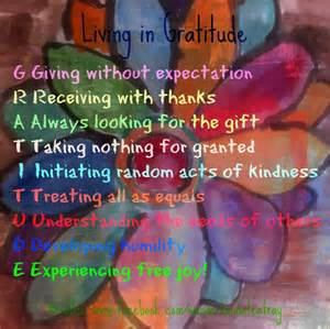 Living with Gratitude