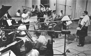 MJFO rehearsal 1965 with Gil Fuller and Dizzy Gillespie preparing for the Album and the Live Performance