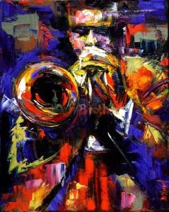 Handmade Museum Quality_Jazz Oil Paintings